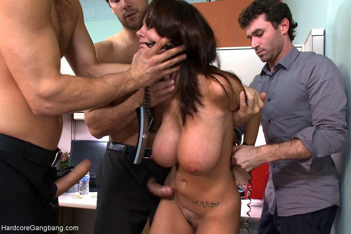 Gangbang huge tits Huge tits